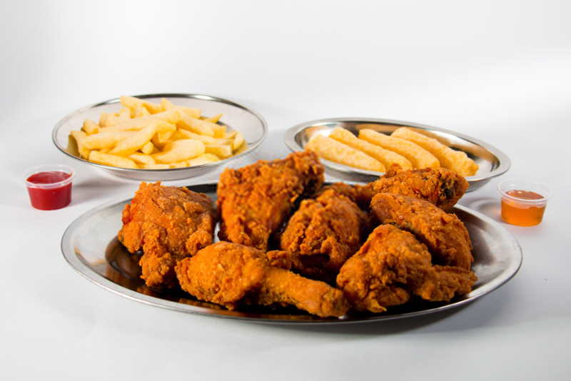 imagen plato de pollo broaster