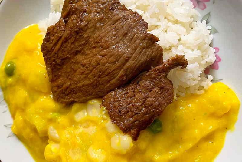 imagen plato de locro de zapallo peruano